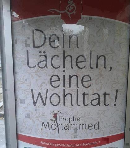بالصور: النمسا تقتبس كلام البشر(سيدنا محمد)